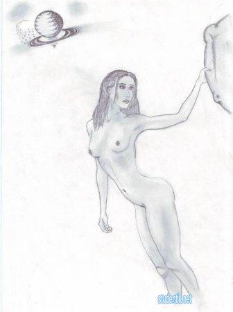 Личные наброски картин простым карандашом