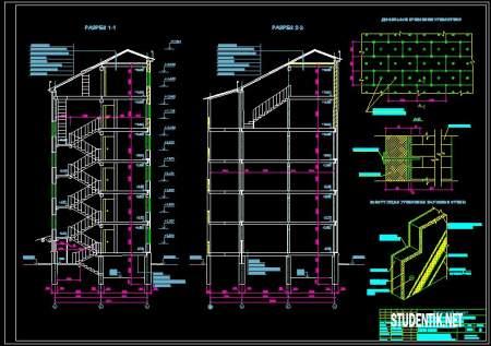 Дипломный проект Реконструкция пятиэтажного жилого дома. Пояснительная записка + чертежи.